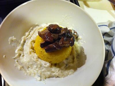 Tiballo di riso porcini e gorgonzola