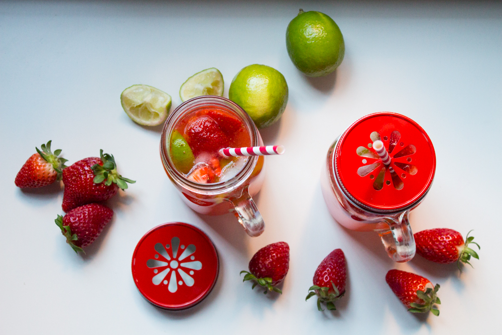 Acqua fragole e lime ricetta