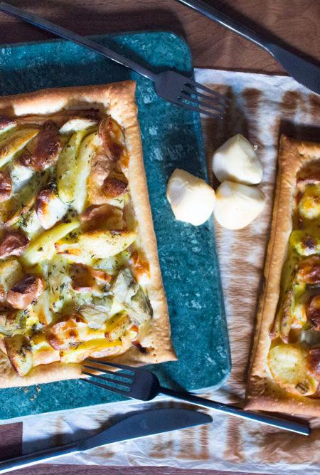 Torta salata patate e carciofi ricetta