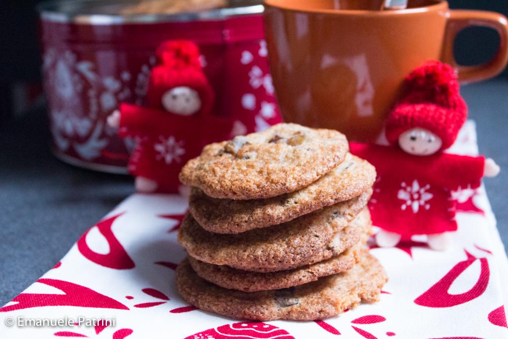 Cookies castagne e cioccolato ricetta