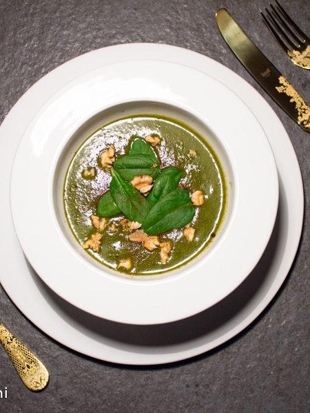Crema di catalogna e spinaci ricetta