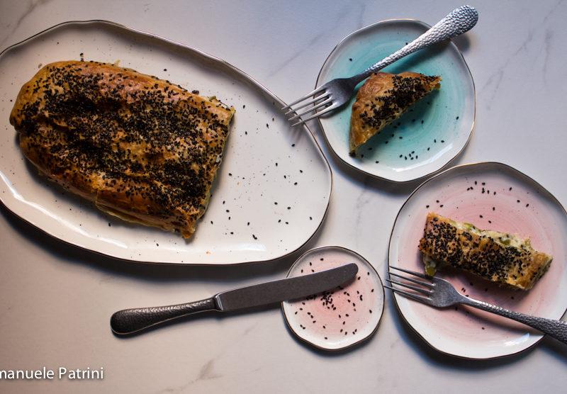 Strudel asparagi e squacquerone ricetta