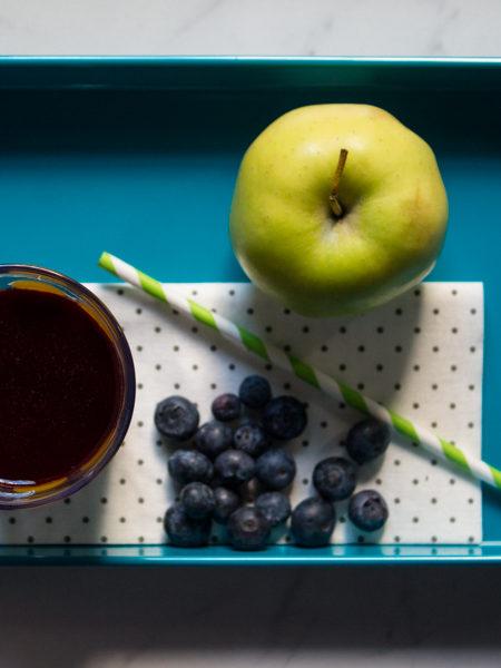 Succo a freddo mela e mirtilli ricetta