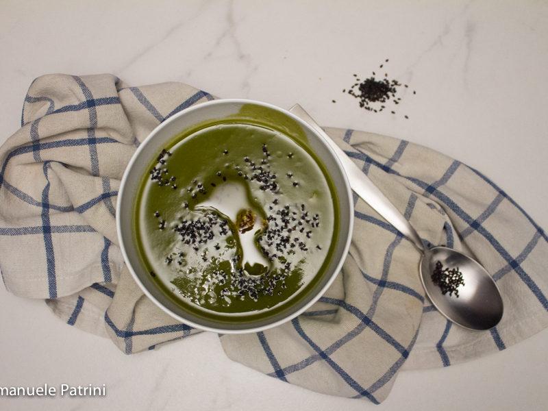 Vellutata zucchine e spinaci ricetta