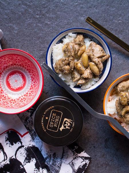 Pollo allo spice rub con riso ricetta