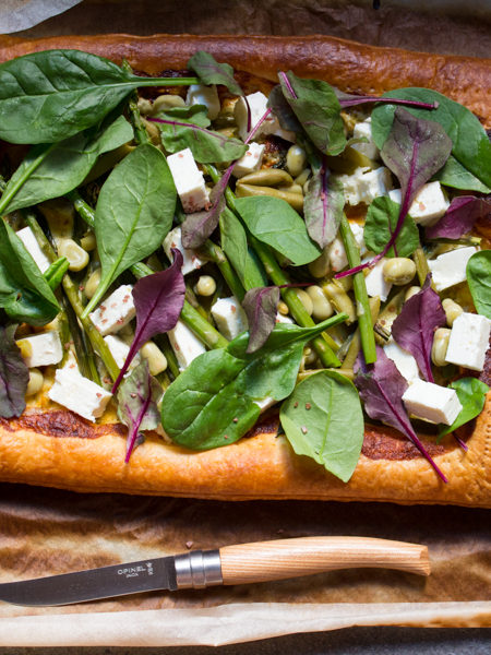 Torta salata asparagi spinaci fave ricetta