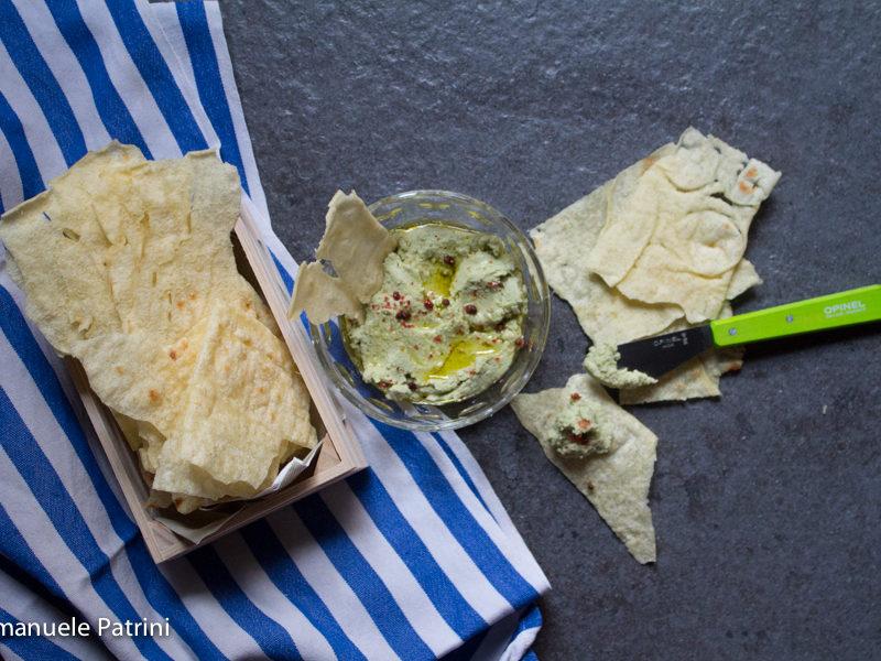 Hummus ceci e avocado ricetta
