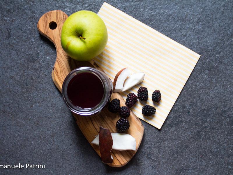 Succo mela more e cocco ricetta